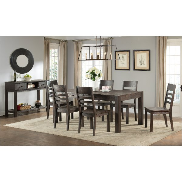 Brushed Cocoa 5 Piece Dining Set