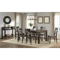 Brushed Cocoa Farmhouse 6 Piece Dining Set - Salem