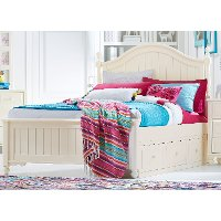 Classic Ivory White Twin Storage Bed - Summerset