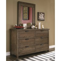 Rustic Contemporary Brown Dresser - Fulton County