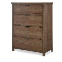 Rustic Contemporary Brown Chest of Drawers - Fulton County