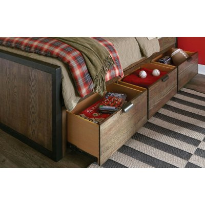 Rustic Brown Under-Bed Storage Drawers - Fulton County