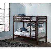 2176-021 Classic Contemporary Brown Twin-over-Twin Bunk Bed - Caspian