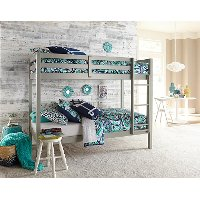 2177-021 Classic Contemporary Gray Twin-over-Twin Bunk Bed - Caspian