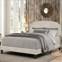 2036-461 Casual Classic Fog Gray Full Upholstered Bed - Desi