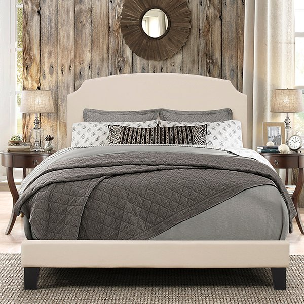 Casual Classic Linen King Upholstered Bed - Desi