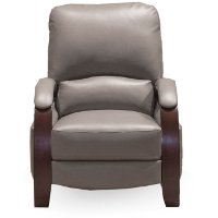 Gray Push Back High Leg Recliner - Larue