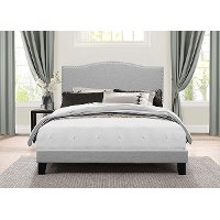 2011-460 Classic Traditional Gray Full Upholstered Bed - Kiley