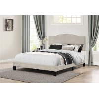 2011-501 Classic Traditional Fog Gray Queen Upholstered Bed - Kiley