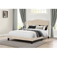 2011-662 Classic Traditional Linen King Upholstered Bed - Kiley