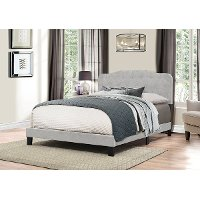 2010-500 Traditional Glacier Gray Queen Upholstered Bed - Nicole
