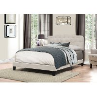 2010-461 Traditional Fog Gray Full Upholstered Bed - Nicole