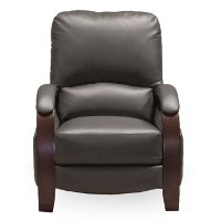 Smoke Gray Push Back High Leg Recliner - Larue