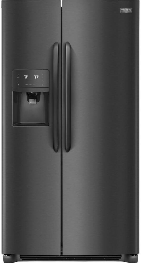 fgss2635td frigidaire gallery 25 5 cu  ft  side by side refrigerator   black frigidaire gallery 4 piece kitchen appliance package with electric      rh   rcwilley com
