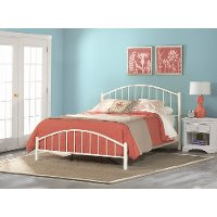 2084-660 Classic Contemporary White King Metal Bed - Cottage