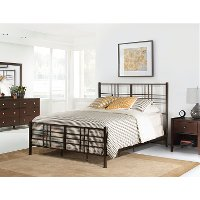 2089-330 Modern Dark Pewter Twin Metal Bed - Manhattan