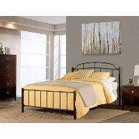2146-330 Casual Contemporary Black Twin Metal Bed - Sheffield