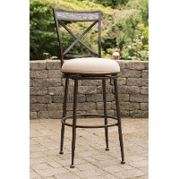 6317-826 Indoor-Outdoor Swivel Counter Height Stool - Pullman