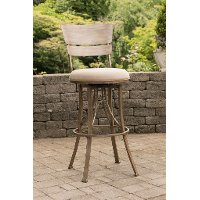 6318-826 Indoor-Outdoor Swivel Counter Height Stool - Wakefield
