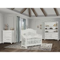 826-BW Brush White 5-in-1 Convertible Crib - Cheyenne