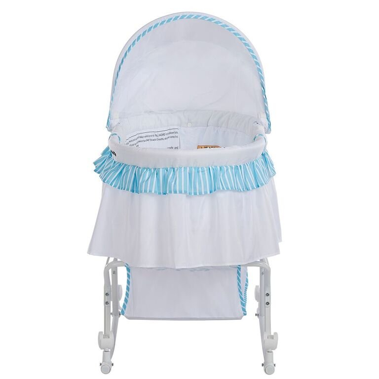 Blue And White Portable 2 In 1 Bassinet And Cradle   Lacy | RC Willey  Furniture Store