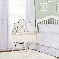 Cream Portable 2-in-1 Bassinet and Cradle - Lacy