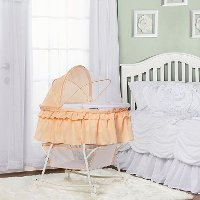 Coral Portable 2-in-1 Bassinet and Cradle - Lacy
