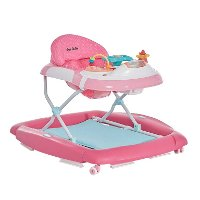 Pink 2-in-1 Crossover Musical Walker and Rocker