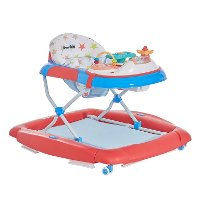 Red/ White/ Blue 2-in-1 Crossover Musical Walker and Rocker