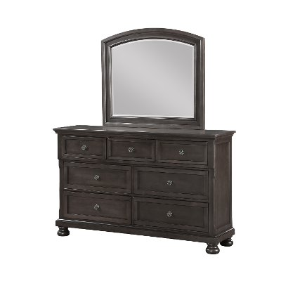 Classic Traditional Gray Mirror - Stella