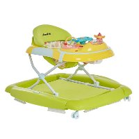 Lime Green and Yellow 2-in-1 Crossover Musical Walker and Rocker