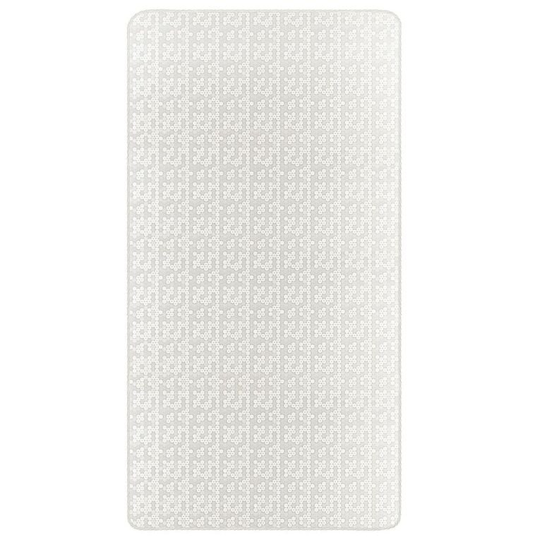 White 6 Inch Full Size Firm Foam Crib or Toddler Bed Mattress