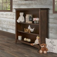 829-AB Antique Brown Bookcase - Santa Fe and Cheyenne