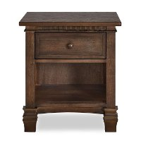 830-AB Antique Brown 1-Drawer Nightstand - Santa Fe