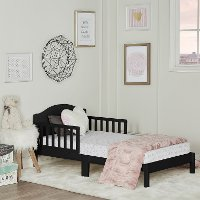 Classic Black Toddler Bed