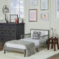 Steel Gray and White Toddler Bed - Brookside