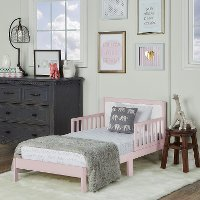 Pink and White Toddler Bed - Brookside