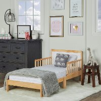 Natural/ White Toddler Bed - Brookside