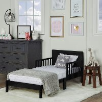 Modern Black Toddler Bed