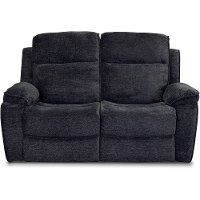 Navy Blue Reclining Loveseat - Castaway