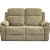 Stone Brown Reclining Loveseat - Castaway