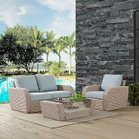 K070137WH-MI 3-Piece Outdoor Wicker Patio Set - St Augustine