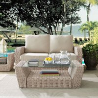 C07230-WH Outdoor Wicker Coffee Table - St Augustine
