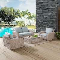 KO70132WH-MI 4 Piece Outdoor Wicker Patio Set - St Augustine