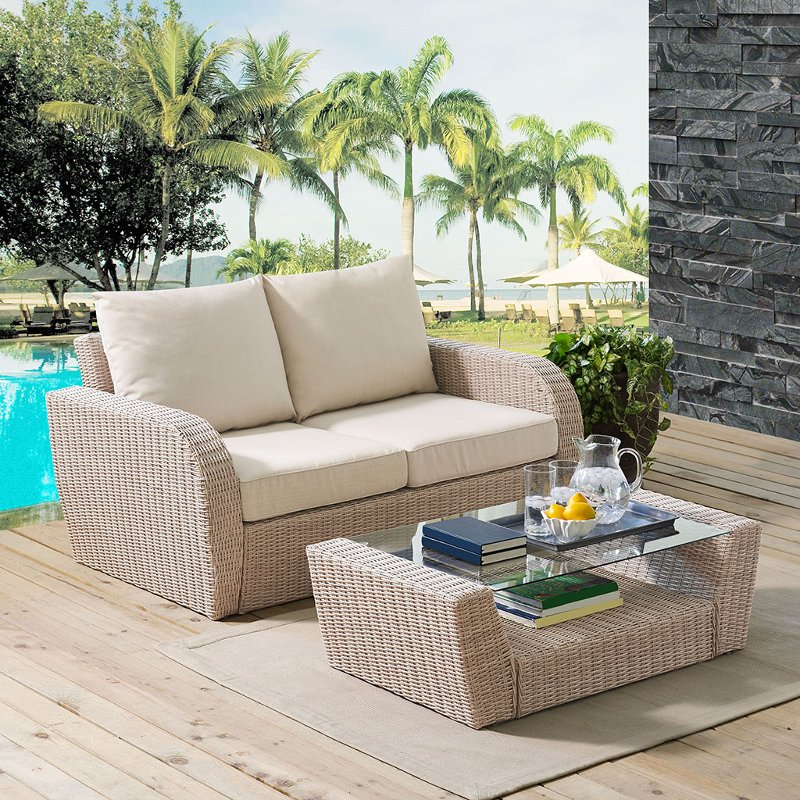2 piece outdoor wicker patio set   st augustine rcwilley image1~800