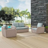 K070134WH-MI 3 Piece Outdoor Wicker Patio Set - St Augustine