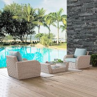 KO70135WH-MI 3 Piece Outdoor Wicker Patio Set - St Sugustine