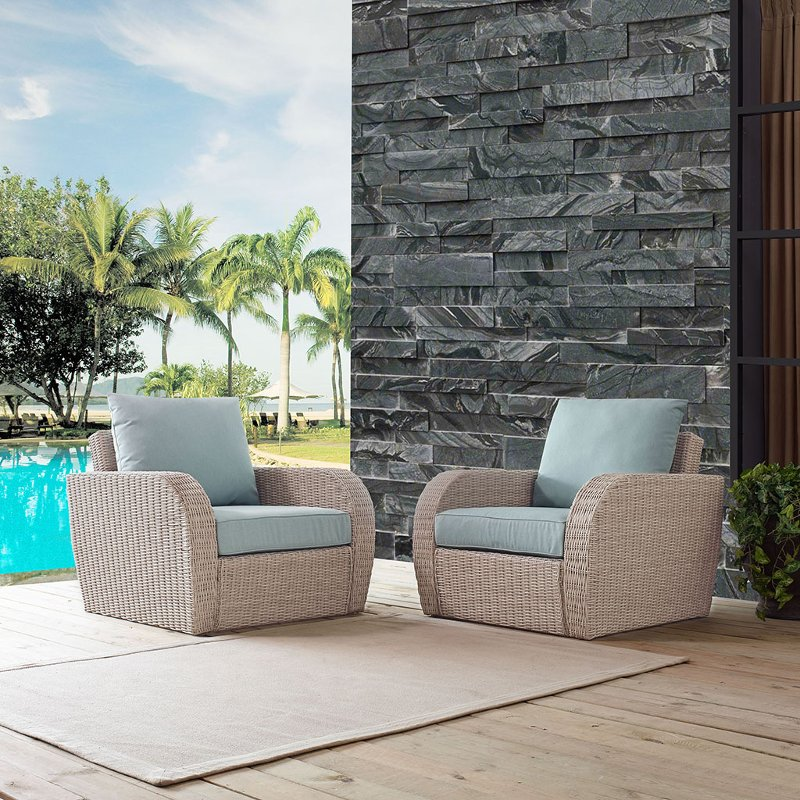 2 piece outdoor wicker chair set   st augustine rcwilley image1~800