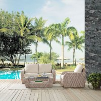KO70137WH-OL 3 Piece Outdoor Wicker Patio Set - St Augustine