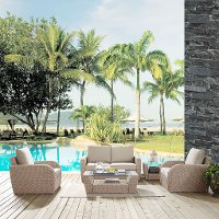 K070138WH-OL 5 Piece Outdoor Wicker Patio Set - St Augustine